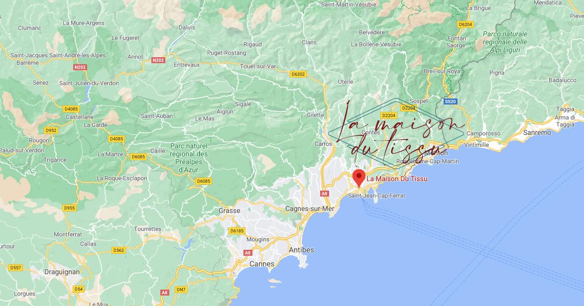 Déplacement autour de Nice pour prise de mesure   La Maison du Tissu